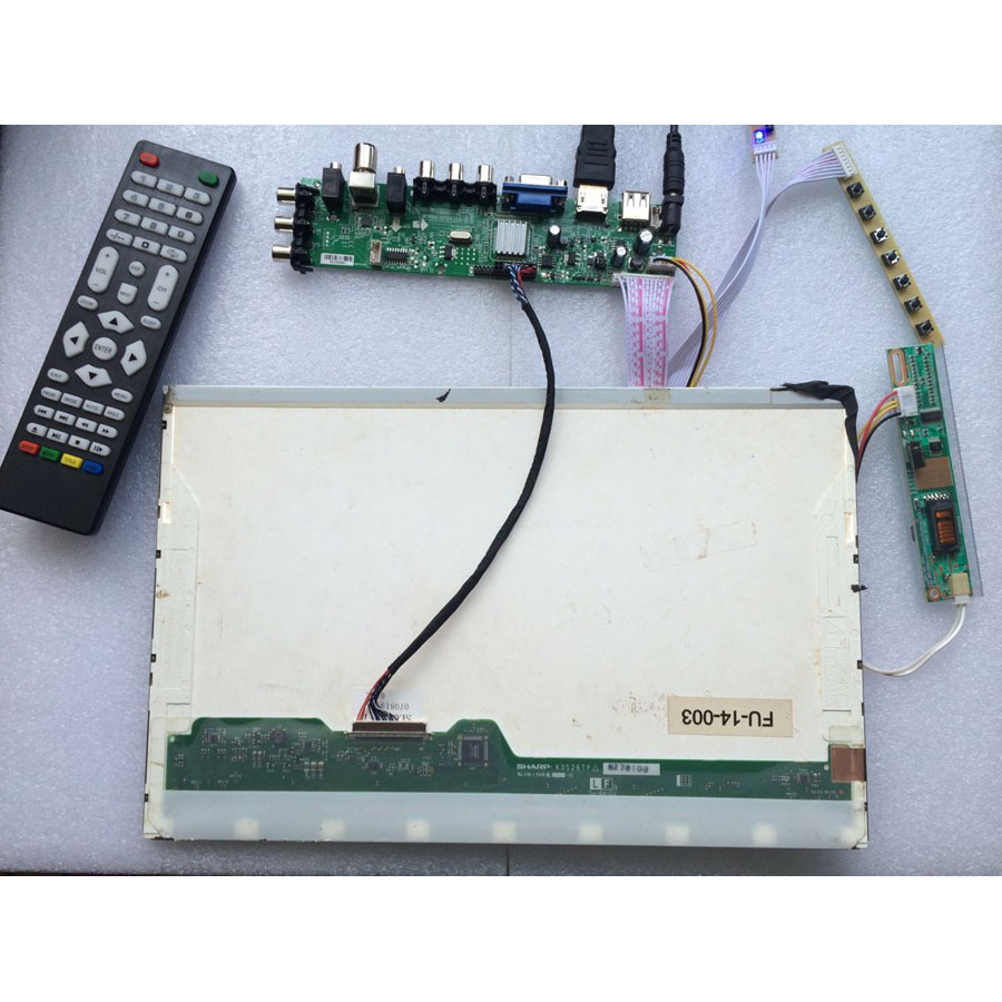 HDMI VGA AV  LCD Controller Driver Board for LP171WP4 TL Q1 LP171WP4 TL Q1
