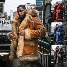 Зимняя мужская куртка из искусственного меха теплая уличная