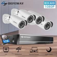 Defeway ip камера система безопасности 8ch dvr комплект 1080p