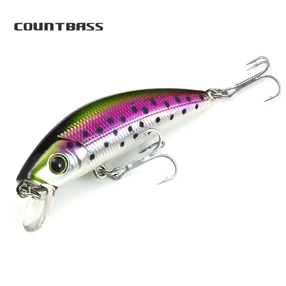 1 Pc Countbass Hard Bait  65mm, Minnow, Wobblers, Bass Walleye Crappie Bait, Freshwater Fishing Lure