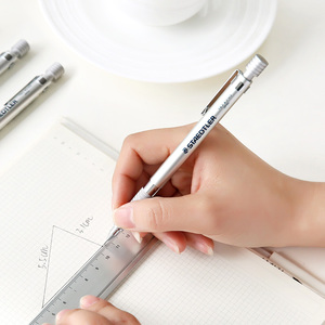 Image 1 - ドイツステッドラー 925 25 金属シャープペンシル 1.3 ミリメートルシルバープロ製図鉛筆 2.0 ミリメートルアーキテクチャデザイン文具