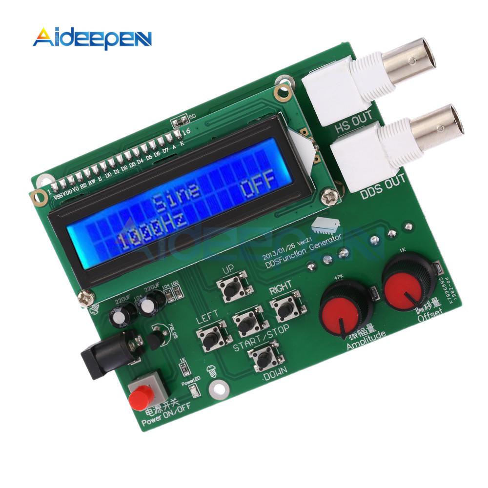 DDS Function Signal Generator Frequency Generator Module ECG Square Sawtooth Triangle Sine Wave Function Generator Meter Kit|Signal Generators| |  - title=