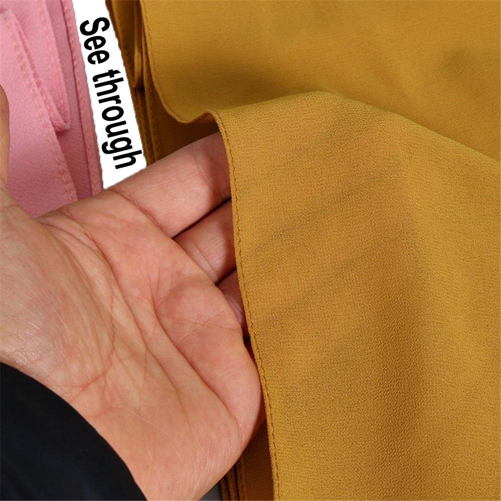 Image 2 - Muslim Women Girls Hijab Bubble Thick Chiffon Hijab Shawls Wrap  Muslim Heavy Bubble Chiffon Plain Scarves/Scarf 180*75cmWomens  Scarves