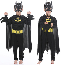 2019 Children Batman Vampire Muscle Costumes & Masks Cape Boy Superhero