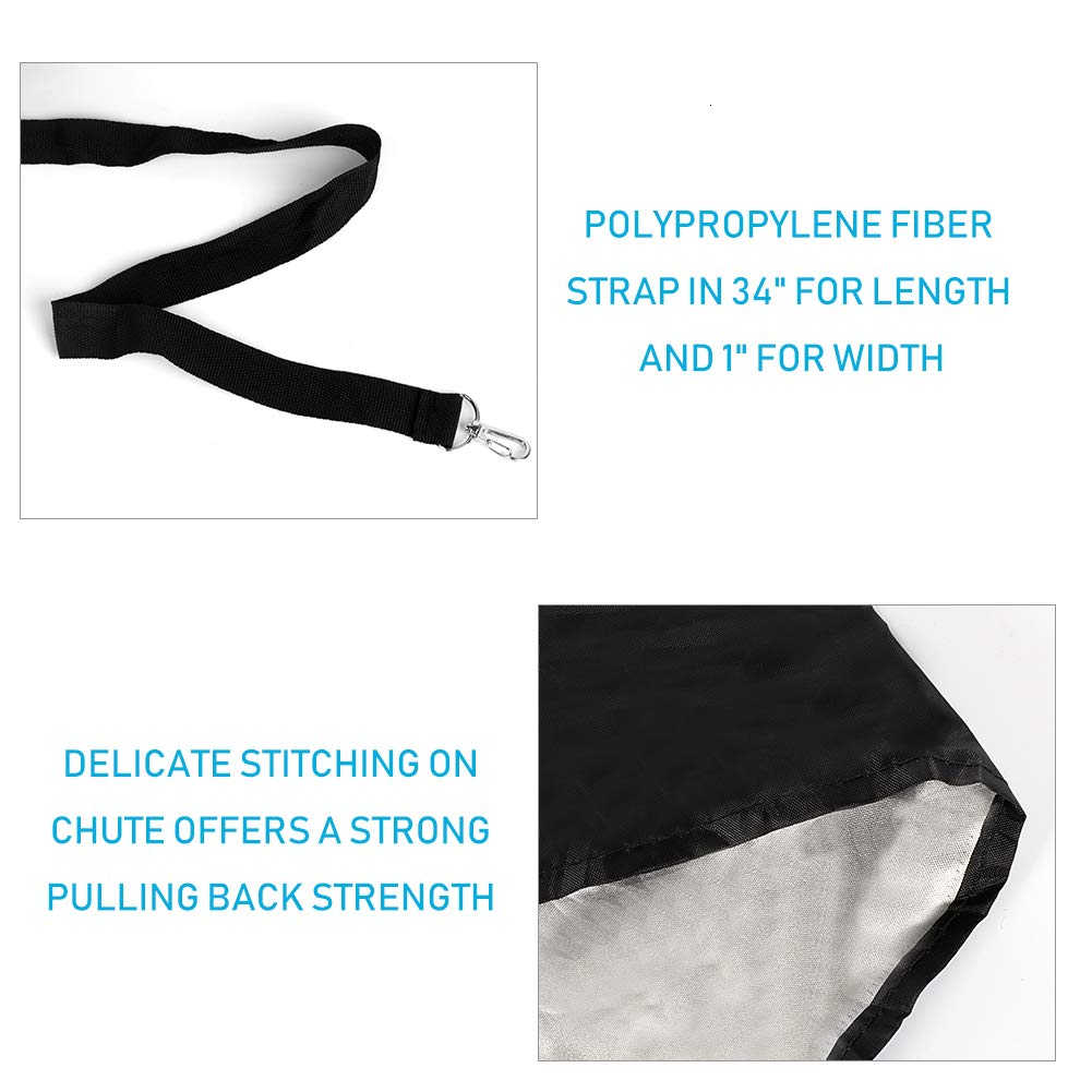 Longsing Resistance Running Umbrella Speed Training Resistance Soccer Training Weight Bearing Fitness Parachute for Improving Speed Stamina Gr/ün Strength and Accelleration