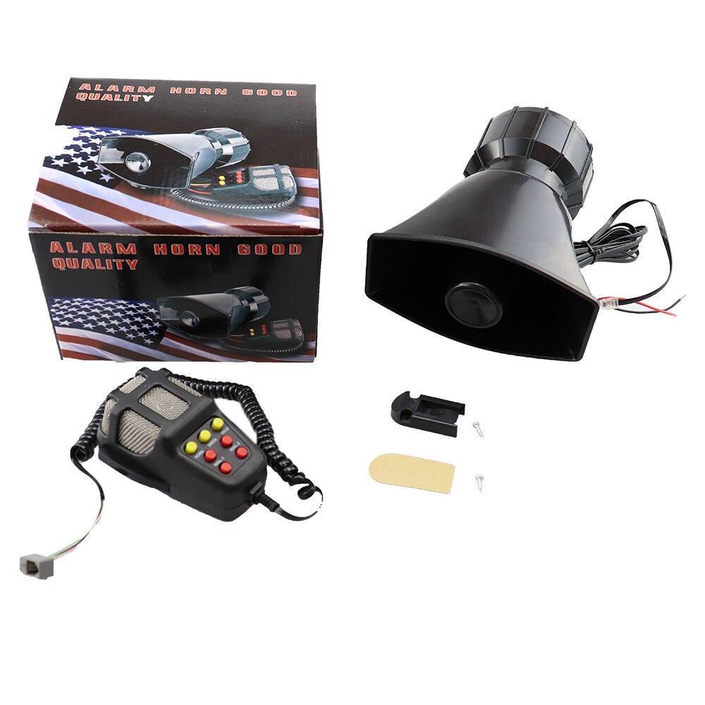 Klakson z mikrofonem głośny motocykl syrena pojazd ciężarowy alarm ostrzegawczy głośnik plastikowe strażacy policji 5 dźwięk DC 12V 100W
