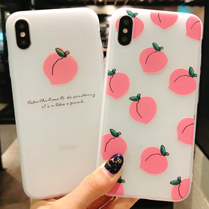 Image 4 - Summer small fresh fruit phone case for iPhone X XS8 7 6 6S PluS  5 5s 5SE silicone 3D embossed soft shell drop protection cover