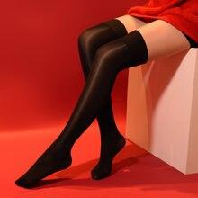 Mulheres sexy óleo brilhante meias shaping meia-calça 8d brilhante cetim forma meias doces cor do vintage meias dança lingerie