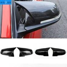 For BMW 1 2 3 4 X Series Rear View Side Mirror Cover F20 F21 F22 F23 F30 F32 F36 X1 E84 F87 M2 Carbon fiber pattern Accessories