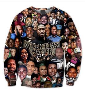 Настоящий американский Размер США 2 стиля черный lives matter коллаж сублимационная печать высокого качества размера плюс свитер с круглым вырез...