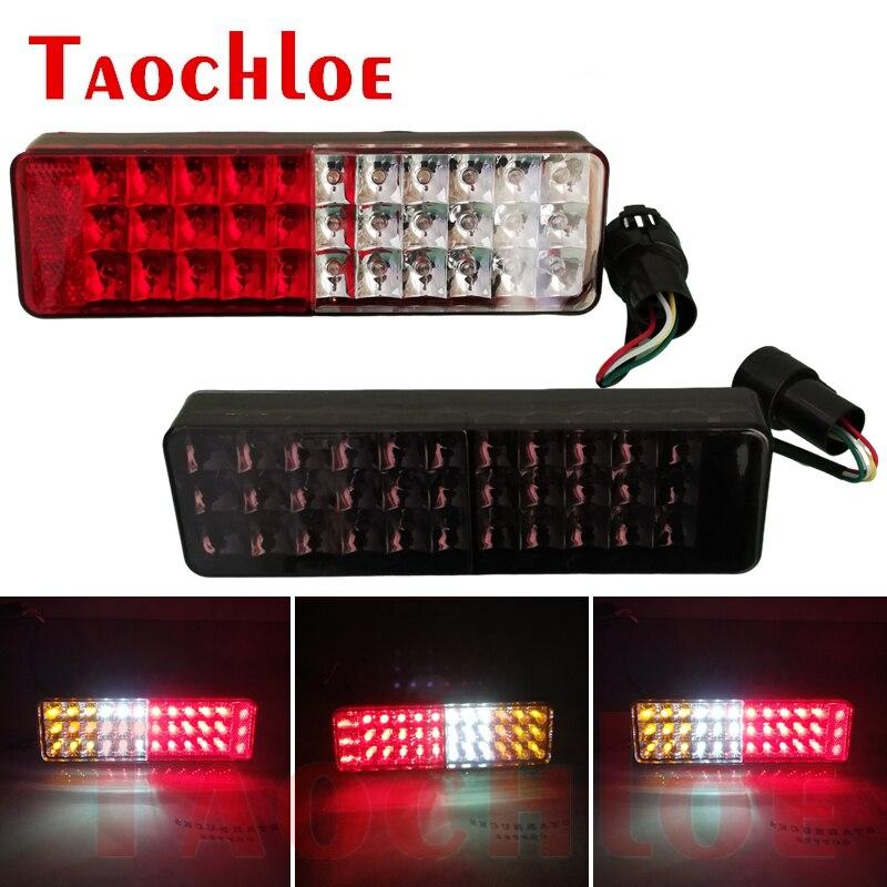 2Pcs 36 LED Tail Lights 12V Rear Brake Lamp Turn Stop Indicator Lamps For JIMNY Car Reverse Indicator Light