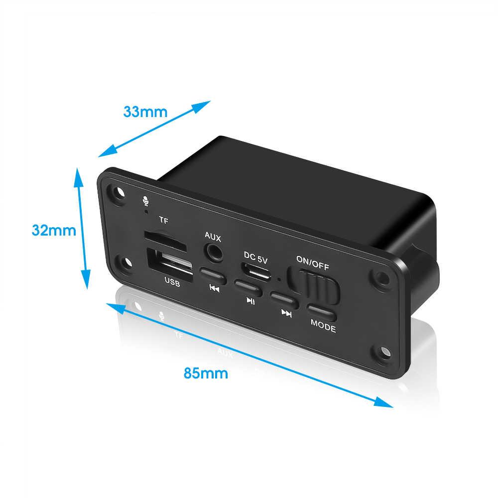 ハンズフリー Fm ラジオ Bluetooth 5.0 カーキット MP3 プレーヤーデコーダボードモジュール 2*3 ワットアンプ U -ディスク TF カード 3.mm AUX
