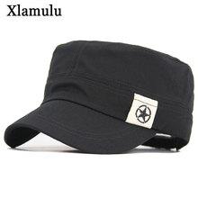 Cap Men Hats Baseball-Hat Military-Hats Flat-Top Army Black Autumn Spring Cotton Five-Star