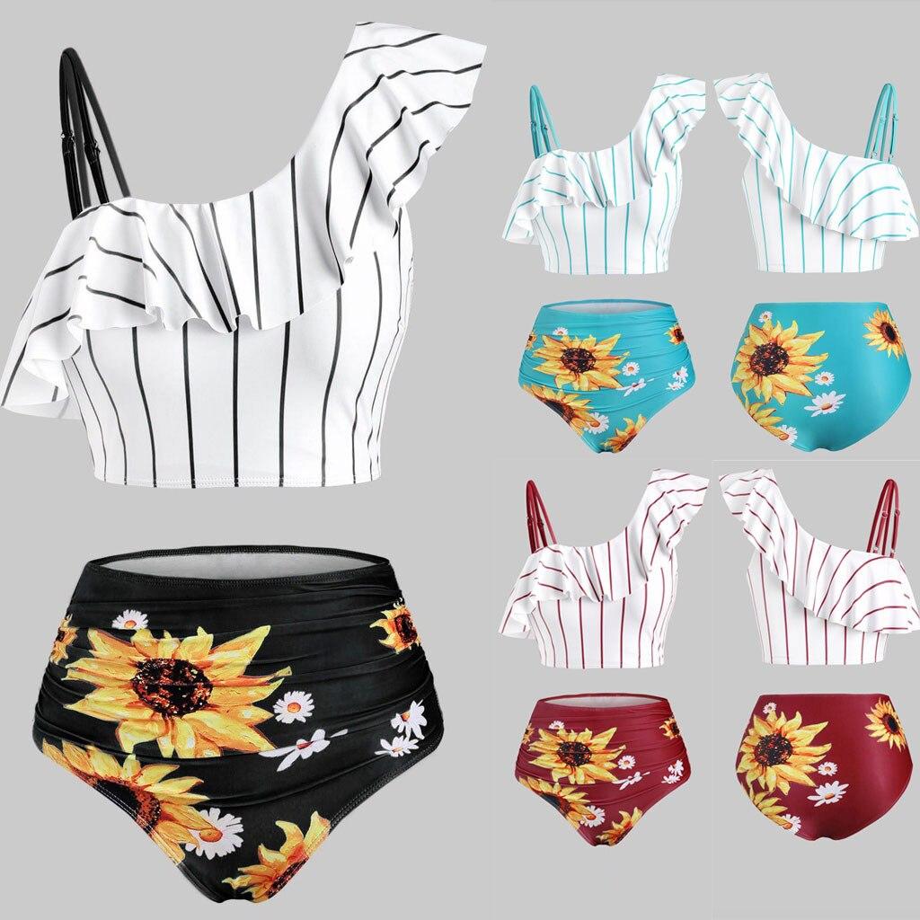 Sunflower Printed Bikini Set Sexy Swimwear Women 2020 Mujer Push Up Padded Biquini Bathers Bandage Bathing Suit Swimsuit Bikini 1