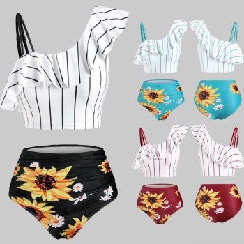 Sunflower Printed Bikini Set Sexy Swimwear Women 2020 Mujer Push Up Padded Biquini Bathers Bandage Bathing Suit Swimsuit Bikini 1