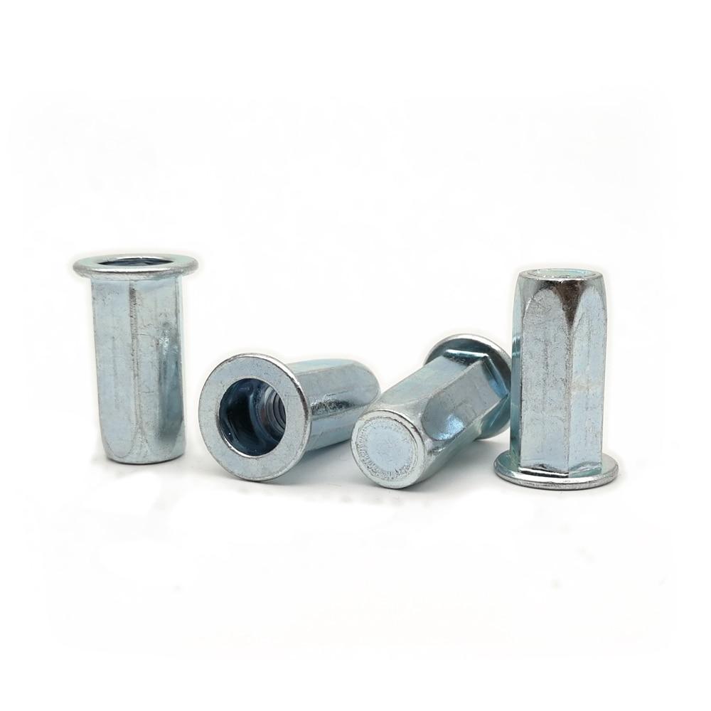 20 st/ücke M3-M8 Flachkopf Gewinde Nietmuttern Edelstahl Niet Blindmuttern Aluminium Nutserts M3