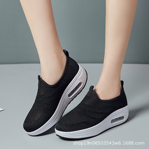 Image 4 - COWCOM Drop Sale  Spring Cushion Thick Bottom Flying Weaving Hollow Breathable  Leisure Sports WADDLE Shoes Female Hair CYL 2008