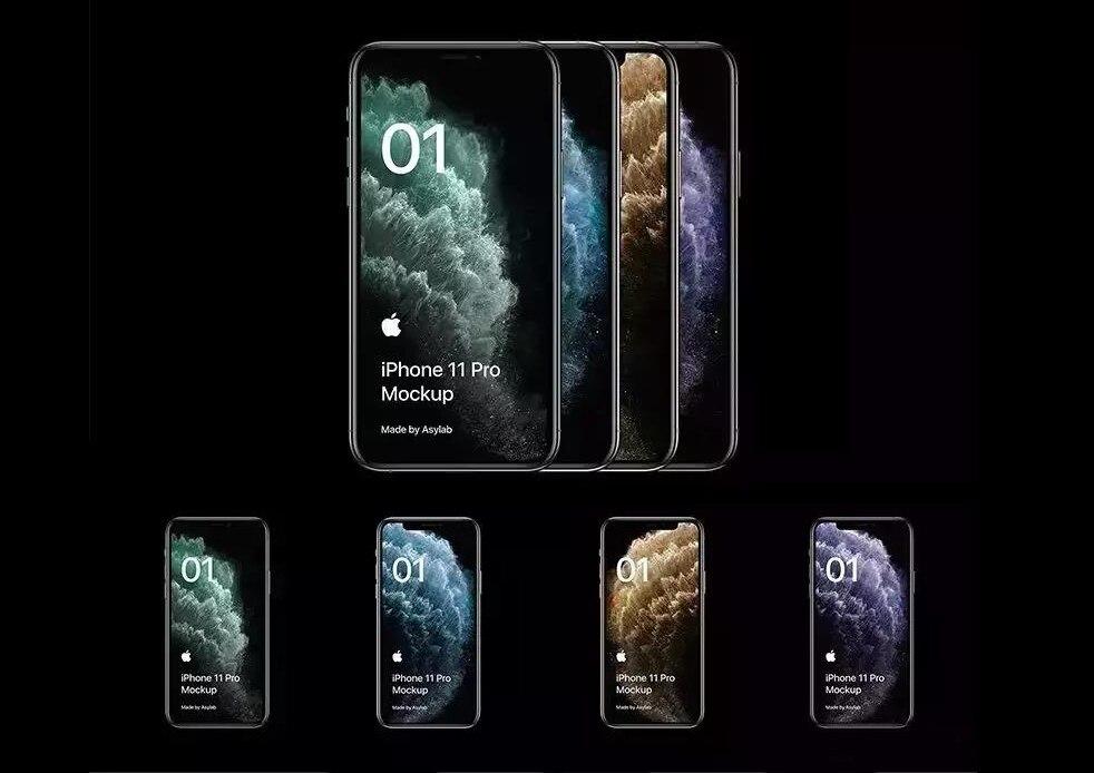 iPhone 11模型样机PSD+AI源文件