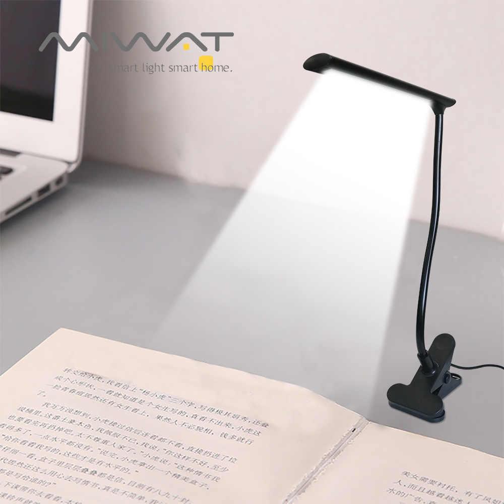 USB светодиодный светильник с зажимом, 5 в постоянного тока, 3 Вт, гибкий светодиодный светильник для чтения книг, настольная лампа для офиса, спальни, прикроватные общежития, гостиной