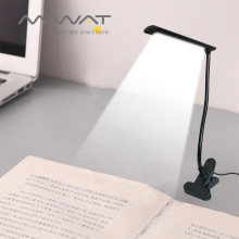 USB LED Clip-on Lamp DC 5V 3W Flexible LED Reading Book Lamp Table Desk Lamp For Office Bedroom bedside Dormitories Living room(China)