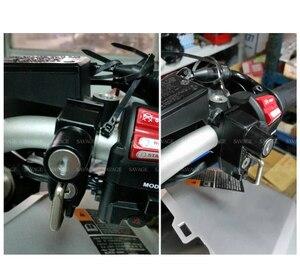 Image 5 - Helmet Locks For HONDA CB300F CB300R CB400F CB500F CB400X CB500X CB650F CB600F CB900F CB150R Motorcycle Handlebar Bar Clamp