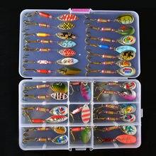 Juego De Seuelos De Cuchara De Toma De Cebo Giratorio De 2-7g Trucha Lucio Kit De Seuelos De Pesca De Metal Crankbait De Agua