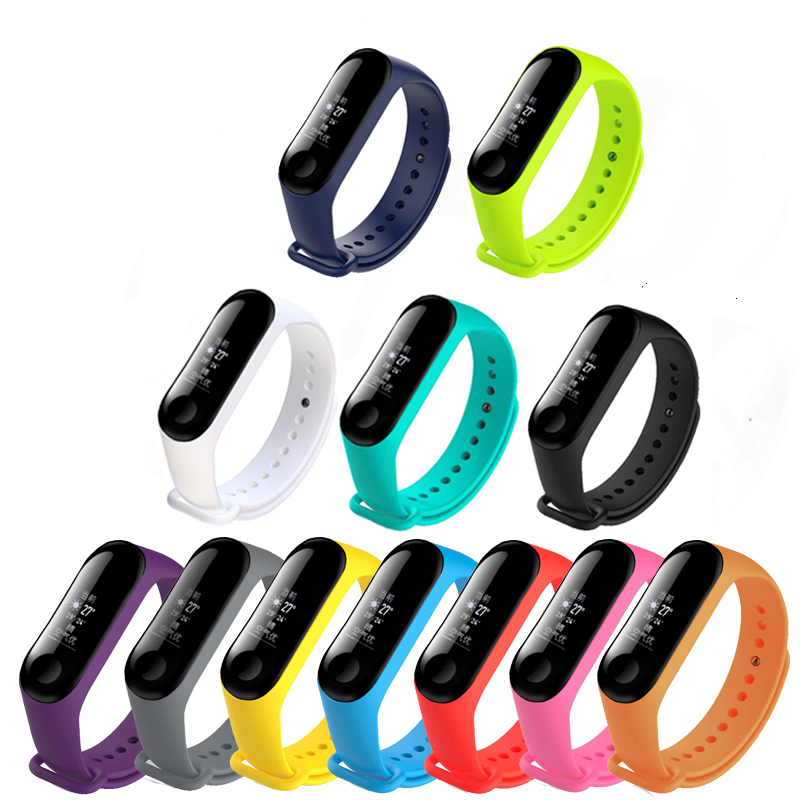 For The Xiaomi Mi Band 3 Multicolor Replacement Bracelet  Strap,Smart Strap For The Xiaomi Mi Band 4 Replacement Wrist Strap,