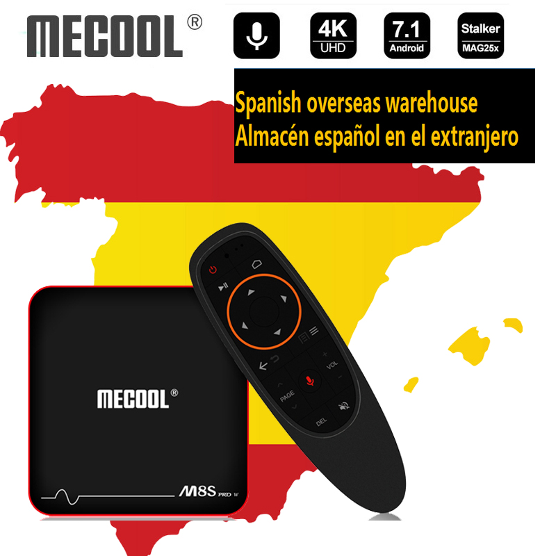 Mecool M8S PRO W smart tv box 2GB DDR3 8 GB/16G ROM Android 7.1 Amlogic S905W IPTV 4K 2.4G tv box z wifi statek z ES odtwarzacz multimedialny