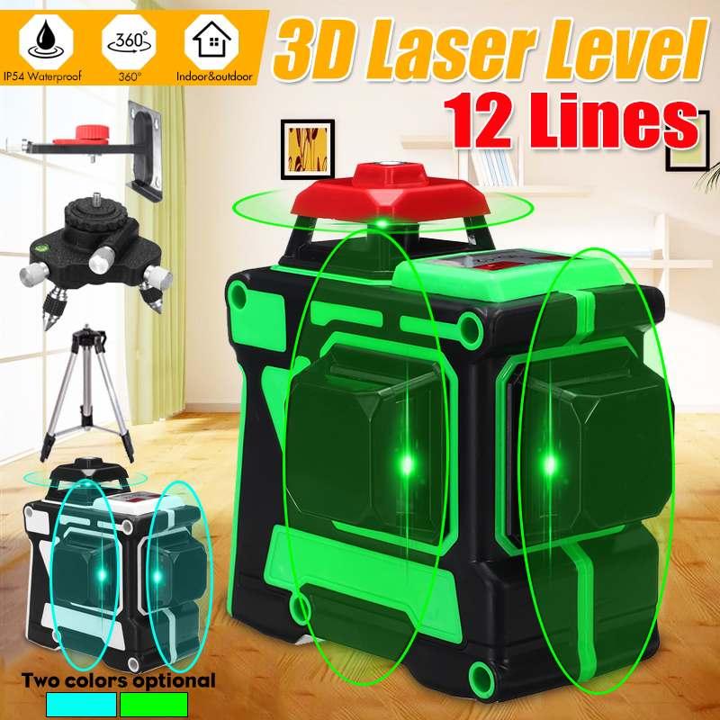 Laser Level 1.2m Aluminium Tripod /Base /Bracket /Receiver/Wall Frame 360 3D Green Line Rotary Laser Laser Measuring Tool