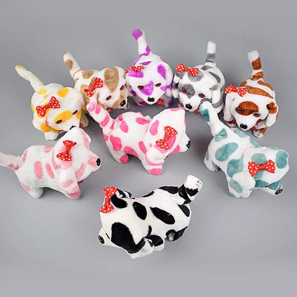 Kids Baby Electric Dog Toy Cute Plush Dog LED Light Eyes Walking Barking Puppy Children Toy Gift 12cm X 16cm X 9cm Random Color