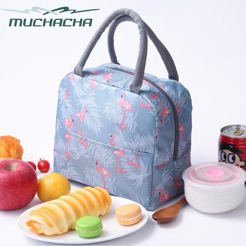Women Reusable Travel Lunch Tote Bag Portable Insulated Thermal Food Snack Picnic Box Casual Cooler Handbags