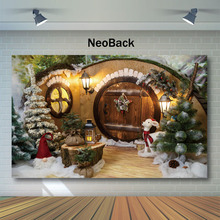 Christmas Backdrop Winter Snowflake Tree House Children Backgrounds for Photo Studio Christmas Decor Tree Photography Backdrops цены