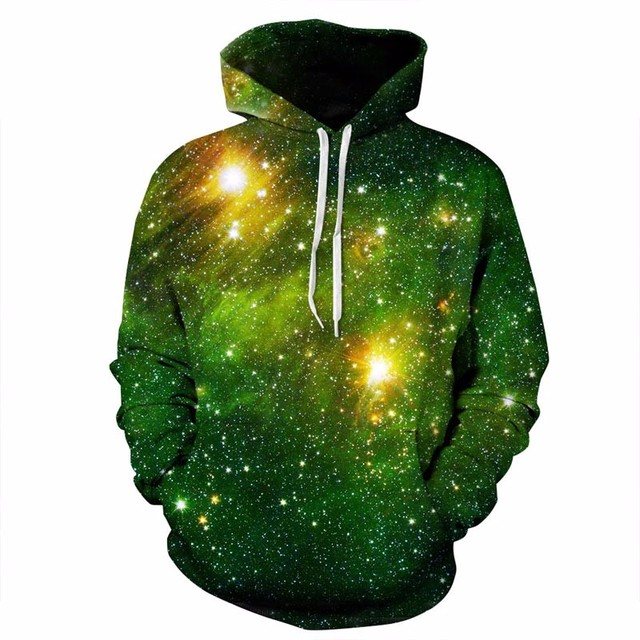 3D Starry Sky Printed High Quality Hoodie 2