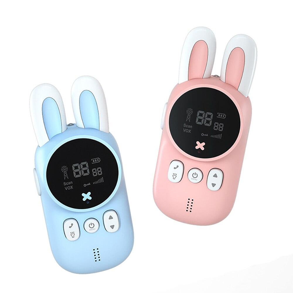 Portable Handheld 1 Pair Kids Walkie Talkies Kids Toy Cute Rabbit Walkie Handheld Talk Parent-Child Educational Interactive Toys