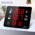 LED Multifunctional Digital Wall-Mounted Thermometer And Hygrometer For Sauna Rooms With External Probe Rain Sensor lx915