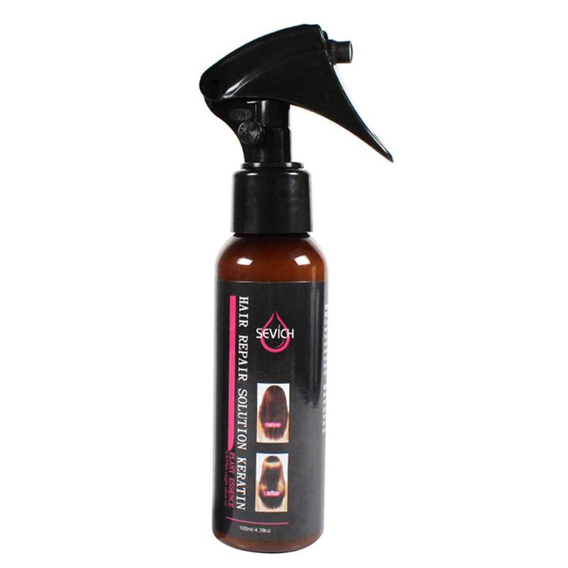100ml Smoothing Spray To Repair Dyeing Ironing Damaged Hair Care Essential Oil Prevents Frizz And Makes Hair Silk Shine 2