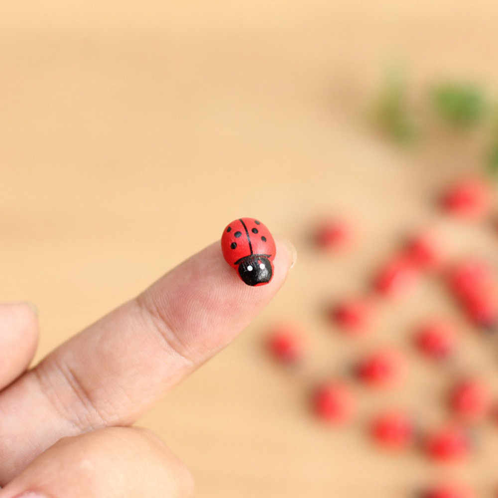 20pcs Mini Ladybug Fairy Garden Miniature DIY Micro P8J4 Ornament Landscape Q4L1