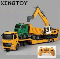 RC Trailer Big Trailer 1:20 2.4G Engineering Electric Tractor Remote Control Car Kids Transfer Car Toys Children Rc Tow Truck