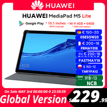 CODE:FRMAY008 80€-8 off OFF HUAWEI – tablette PC de 10.1 pouces MediaPad M5 lite, avec Android 7500, 4 go de ram, 64 go de rom, wi-fi, batterie de 8.0 mAh, Version internationale