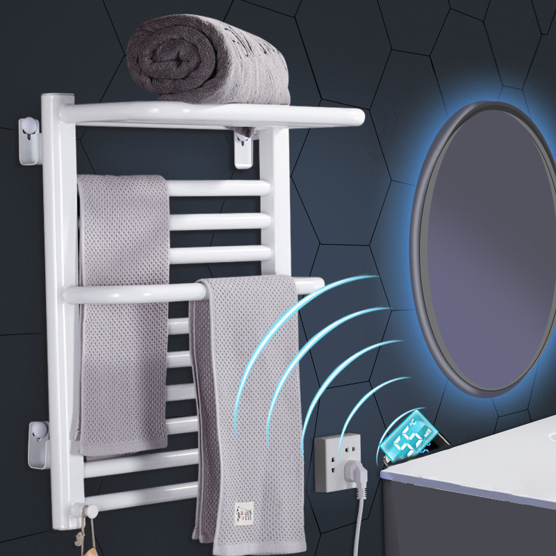 Carbon Fiber Intelligent Electric Towel Rack Household Heating Bath Towel Drying Rack Constant Temperature Electric Towel Rail Agreeable Sweetness