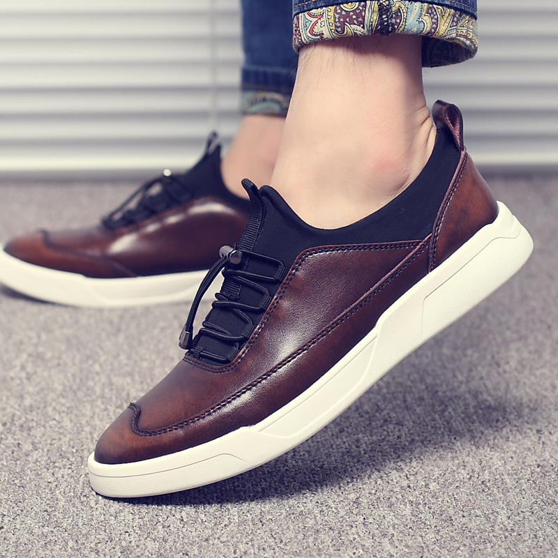 Wild Brand Mens High Quality Skateboarding Shoes Genuine Leather Sneakers Breathable Trainers Shoes For Men Fashion Sneakers