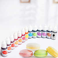 Dyes Soap Making Coloring Set Liquid Kit Edible Colorants for DIY Plasticine Water Oil Dual Use LKS99