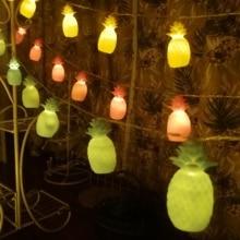 LED Pineapple Lights String Fairy room Decoration Romantic Wedding Girls Heart Lamp Bedroom Home Decor Birthday Party
