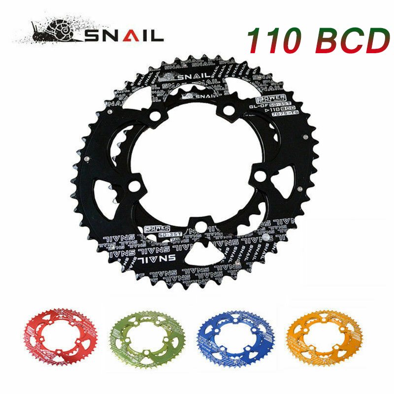 SNAIL 700C Road <font><b>110BCD</b></font> Chainring <font><b>50T</b></font>/35T Bike Double Oval Bicycle Chain Ring Cycling Chainwheel Disc Fit SHIMANO SRAM FSA image