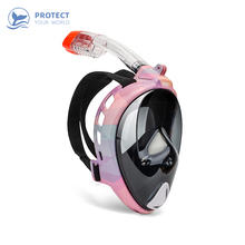 High quality 2019 new Diving Mask Underwater Scuba Anti Fog Full Face men/women Snorkeling Anti-skid Ring Snorkel