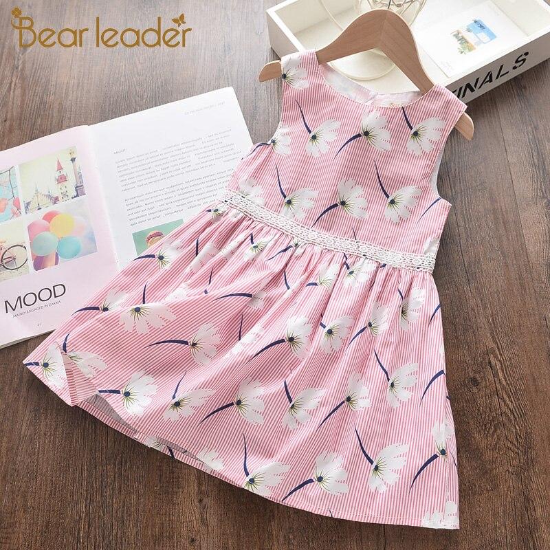 urso lider meninas vestidos de verao menina vestido de festa elegante bordado criancas menina arco princesa