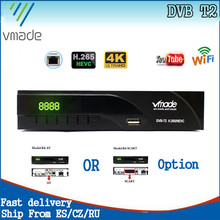 Vmade 2020 tv digital conjunto caixa superior dvb t2 hevc h.265 hd 1080p receptor terrestre dvb t2 sintonizador de tv com suporte rj45 youtube h265