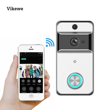 Video Doorbell Camera IP 720P Video Intercom Door Bell IR Night Vision Two-Way Audio Doorbell Remote Control Via Mobile Phone