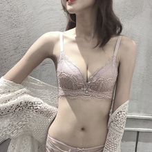 Unterwäsche Set Frauen Spitze Bh & Slip Sets Sexy Bh Set Nahtlose floral Stickerei Bralette verdicken kleine Dessous Mode