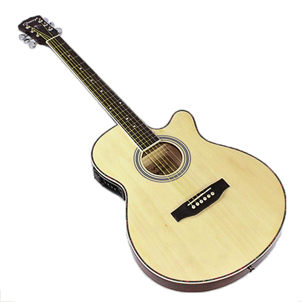 40 inch Electric Acoustic 6 String Guitar Pick up Equipment Steel Strings Folk Guitar Pop Guitar Profession Guitarra AGT122 - 2